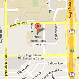 University California Map.Hope International University Southern California Universities